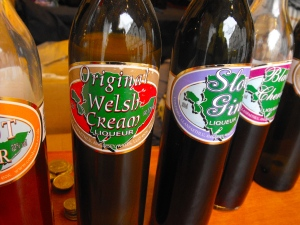 Welsh liqueurs being sold at the Cardiff Christmas Market.