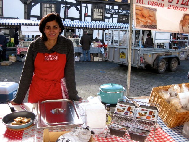 Rayeesa at her stall at Leominster Farmers' Market