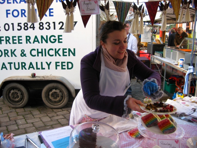 Beth Parkinson at her stall at Leominster farmers' market